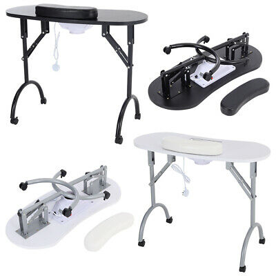 £94.95 • Buy Portable Manicure Table Folding Mobile Compact Nail Station W/ Dust Collector UK