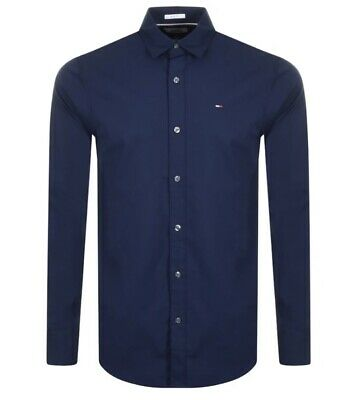 £39.99 • Buy Tommy Hilfiger Men's Slim Fit Oxford Shirt With Cotton Stretch In Navy / White