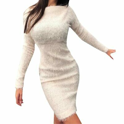 AU33.99 • Buy Women Winter Clothes Long Sleeve Jumper Mini Dress Casual Office Clothing