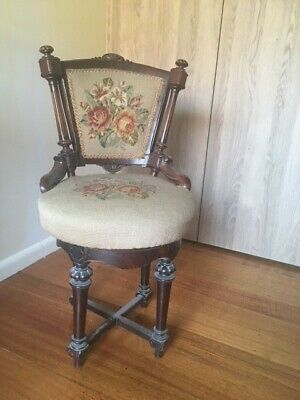 AU50.50 • Buy Original Timber + Tapestry Small Antique Chair