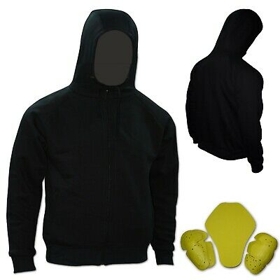 Motorbike Hoodie For Mens Removeable Armoured & Protective Motorcycle Jacket • 29.99£