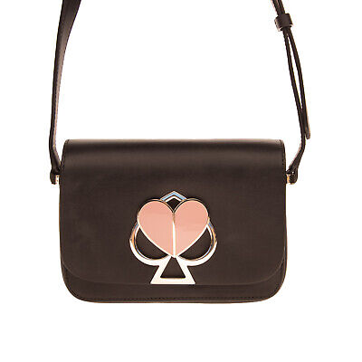 $ CDN69.82 • Buy RRP€290 KATE SPADE NEW YORK Leather Crossbody Bag HANDCRAFTED Logo Turnlock Flap