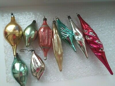 $ CDN25.26 • Buy Vintage USSR Russian Glass Christmas Tree Ornament Xmas Decoration  Icicles