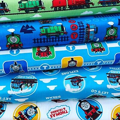 £6.59 • Buy FS907 Thomas The Tank Engine And Friends Trains Cotton Fabric Costumes Display
