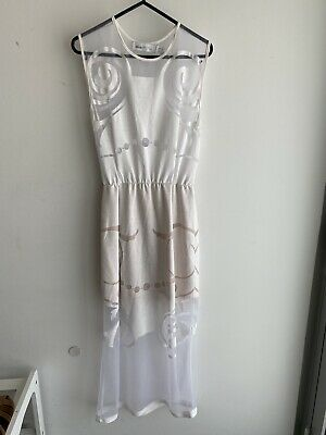 AU30 • Buy Alice McCall White Mesh Maxi Dress Size 6