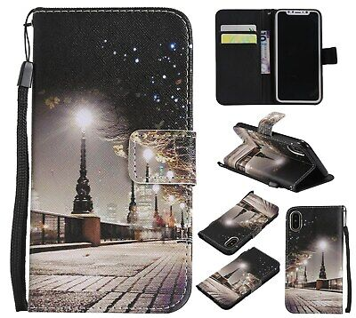 AU7.96 • Buy Fashion Cityscape Women Girl Flip Card Wallet Stand Case Cover For Various Phone