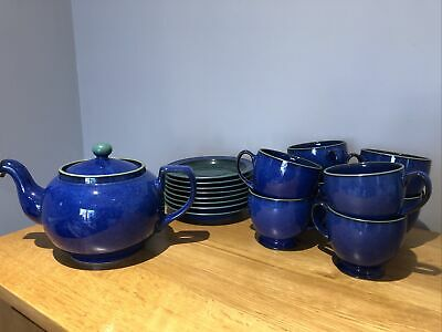 Denby Metz 8 Cups And Saucers And Teapot • 30£