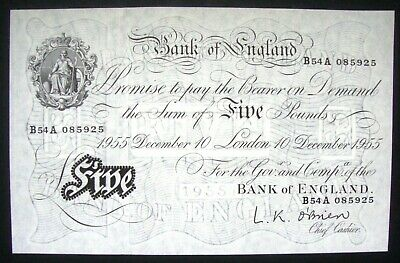 1955 White Five Pound £5 Note • 51£