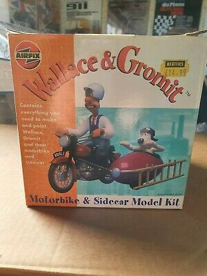 Model Collection Clearance: Airfix Wallis & Gromit Motorbike & Sidecar Kit • 10£