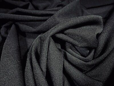 £3.99 • Buy Stretch Spandex Crepe Jersey Knit Dress Fabric, Per Metre - Solid Black