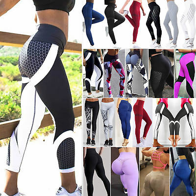 Women Sports Yoga Pants High Waist Leggings Gym Fitness Running Joggors Trousers • 10.79£