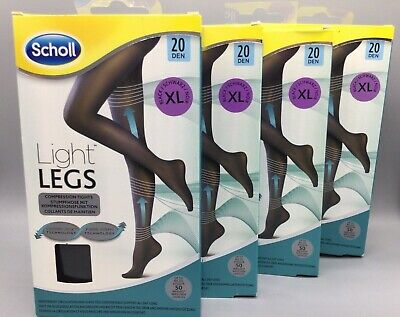 £24.99 • Buy 4x SCHOLL LIGHT LEGS COMPRESSION 20 DEN XL TIGHTS BLACK 4 Pairs