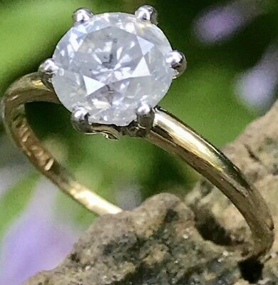 AU3264.61 • Buy 1.52 Ct. Round Diamond Solitaire G Color I2 Yellow Gold Engagement Ring Size 7