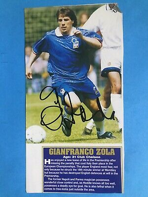 Gianfranco Zola - Italy Footballer Signed Picture  • 7.50£