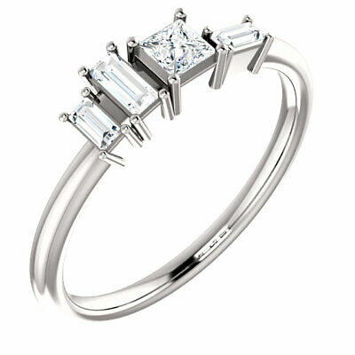 AU770.46 • Buy Diamond Stackable Geometric Ring In Sterling Silver (1/4 Ct. Tw