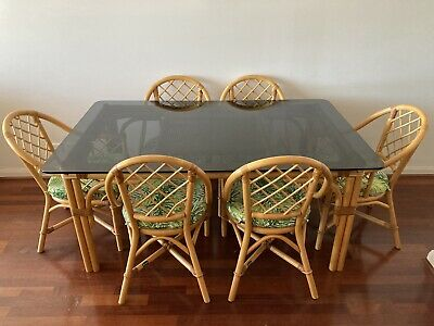 AU650 • Buy Cane Dining Table And 6 Chairs Set