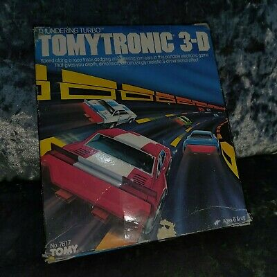 Vintage Tomytronic 3-D Thundering Turbo Working In Its Original Box • 84.99£