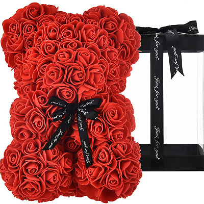 AU34.20 • Buy Rose Bear Teddy Forever Artificial Flowers Best Gifts Valentines Days For Her