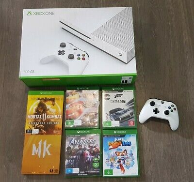 AU200 • Buy Microsoft Xbox One S 500GB Console With 5 GAMES & CONTROLLER - Rarely Used