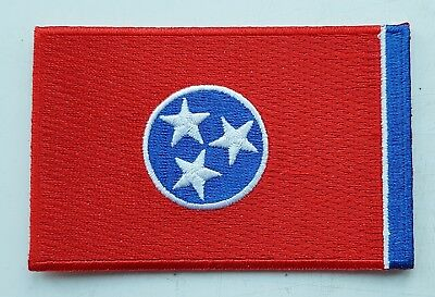TENNESSEE STATE FLAG PATCH United States Of America Embroidered Badge 6x9cm USA • 2.49£