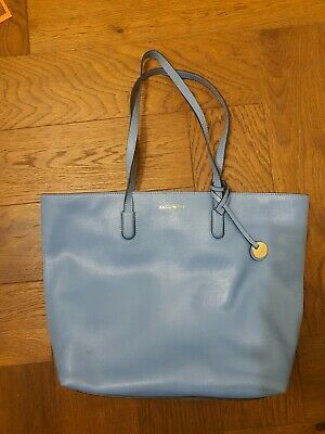 Coccinelle Saffiano Leather Tote Bag In Blue, Fabulous Condition 💙 • 5.50£