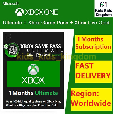$ CDN4.94 • Buy Xbox Live 1 Month Gold & Game Pass Ultimate Code (2x 14 Day) - FAST Dispatch