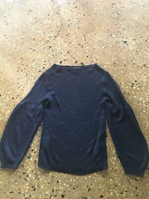 AU20 • Buy Massimo Dutti Viscose/ Polyester Dark Blue Knitted Top Size Xs
