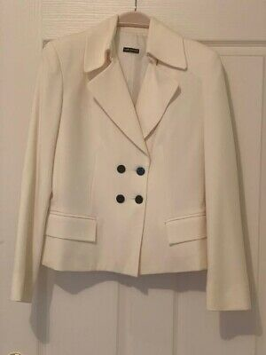 AU40 • Buy Stunning Carla Zampatti Cream Wool Jacket (fully Lined) Size 6 As New