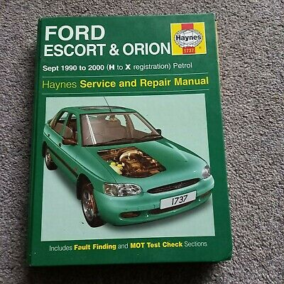 Haynes Service And Repair Manual FORD ESCORT & ORION Sept 1990-2000(H To X) Used • 3£