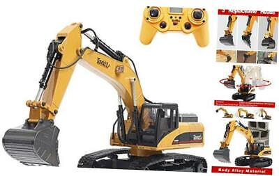 1580 1:14 Scale All Metal RC Excavator Toy For Adults Remote Control Digger  • 615.37£
