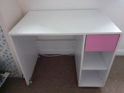 Girls White And Pink Desk • 5£