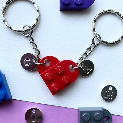 £4.90 • Buy Heart Keyring Keychain Made With LEGO ® CAN BE PERSONALISED WITH INITIALS