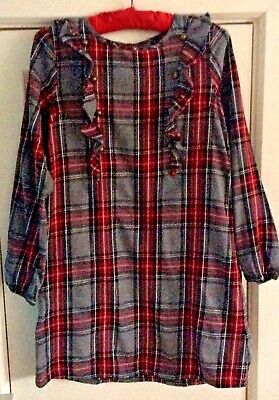 NEXT Grey Checked Dress Age 12 Years • 1.99£