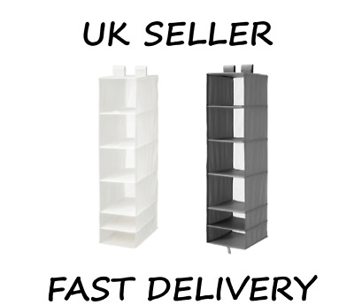 Ikea SKUBB Home, Office, Wardrobe Hanging Storage With 6 Compartments UK SELLER • 12.95£