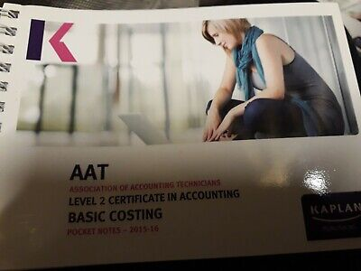 AAT Level 2 Certificate In Accounting - Basic Costing • 3.50£
