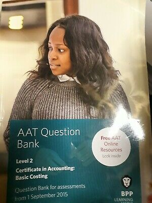 AAT Level 2 Certificate In Accounting- Basic Costing - Question Bank BPP • 4.50£
