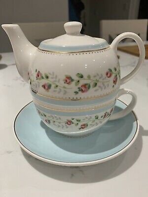 Cath Kidston Tea For One - Teapot Floral Cup & Saucer • 3£