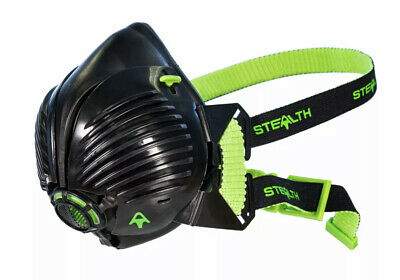 STEALTH P3 Respirator Facemask With Twin HEPAC Filters | Face Mask | Size M/L • 19.95£