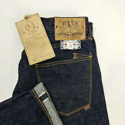 Rare PRPS Goods & Co Made In Japan Men Rinse Selvedge Jeans Size 28x32 Sample • 134.58£