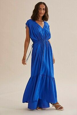 AU59 • Buy COUNTRY ROAD MAXI DRESS In Princess Blue  RRP$249 Size 8