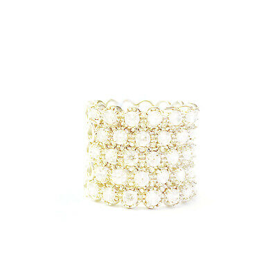 $27.52 • Buy Charles Winston Sterling Silver CZ Ring Wide Band Size 8