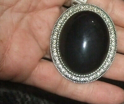 Vintage Bolo String Tie Or Pendant Onyx Stone 1980s Estate -2 Lots Post FREE • 10.04£