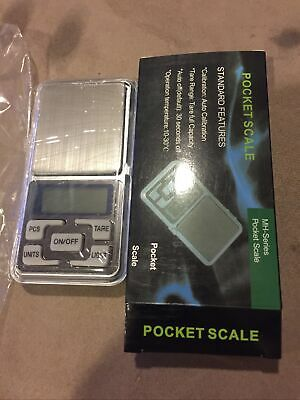 AU9.95 • Buy NEW 500g 0.01g DIGITAL POCKET SCALES JEWELLERY PRECISION ELECTRONIC WEIGHT LAB