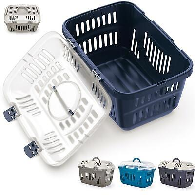 Pet Dog Puppy Cat Carriers Basket Bag Cage Portable Travel Kennel Training Box • 17.80£