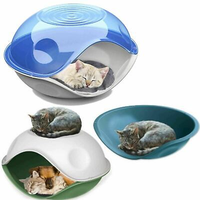 Waterproof Outdoor Plastic Shelter Pet Cat Kitten Dog Bed House Kennel Crate Pod • 19.90£