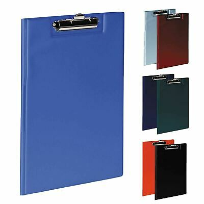 A4 Fold Over Clipboard Or Folders Solid Office Document Storage Paper Pen Holder • 4.40£