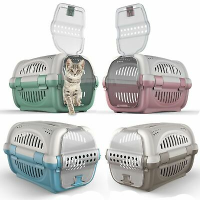 Large Cat Carrier Puppy Portable Pet Transporter Cage Box Vet Safe Travel Crate • 16.80£