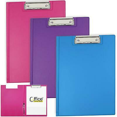 OfficeCentre® 3 X Clipboards Fuchsia Strong Fold Over Cover Folder Clip Boards • 12.80£