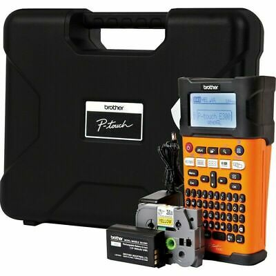 Brother PTE-300VP Hand-Held Label Printing Machine AC Adaptor Carry Case • 94.99£