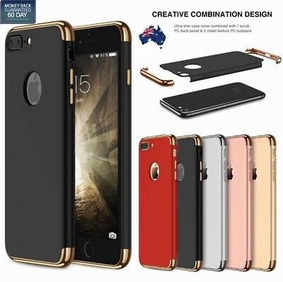 AU5.99 • Buy Luxury Ultra-thin 3 In 1  Gold Edge Hybrid Case Cover For Apple IPhone 7 8 Plus